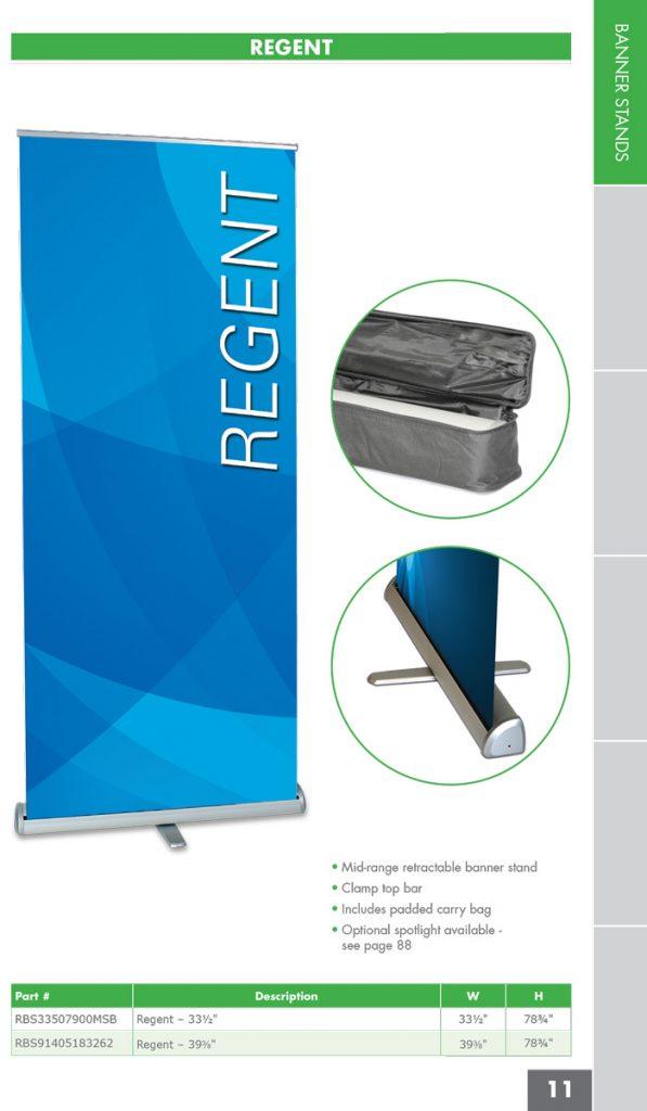 regent banner stand